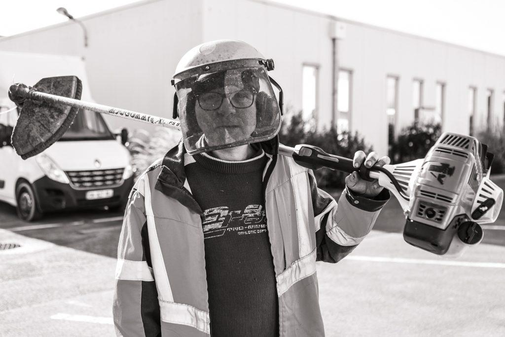 Portrait d'un travailleur des Espaces Verts